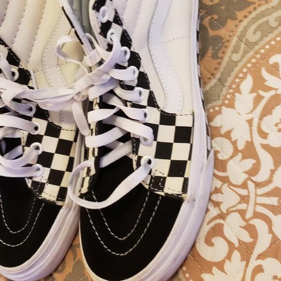 Vans Shoes | Sk8 Hi Chex Skate Shoe